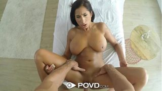POVD – Stacy Jay's big rack wobbles when fucked POV style